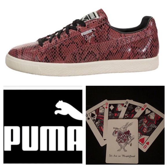 uk availability 2b3ac e33c1 New Puma Clyde Red Snakeskin Sneaker Sz 8.5 Shoes